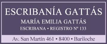 Escribania Gattas Maria Emilia